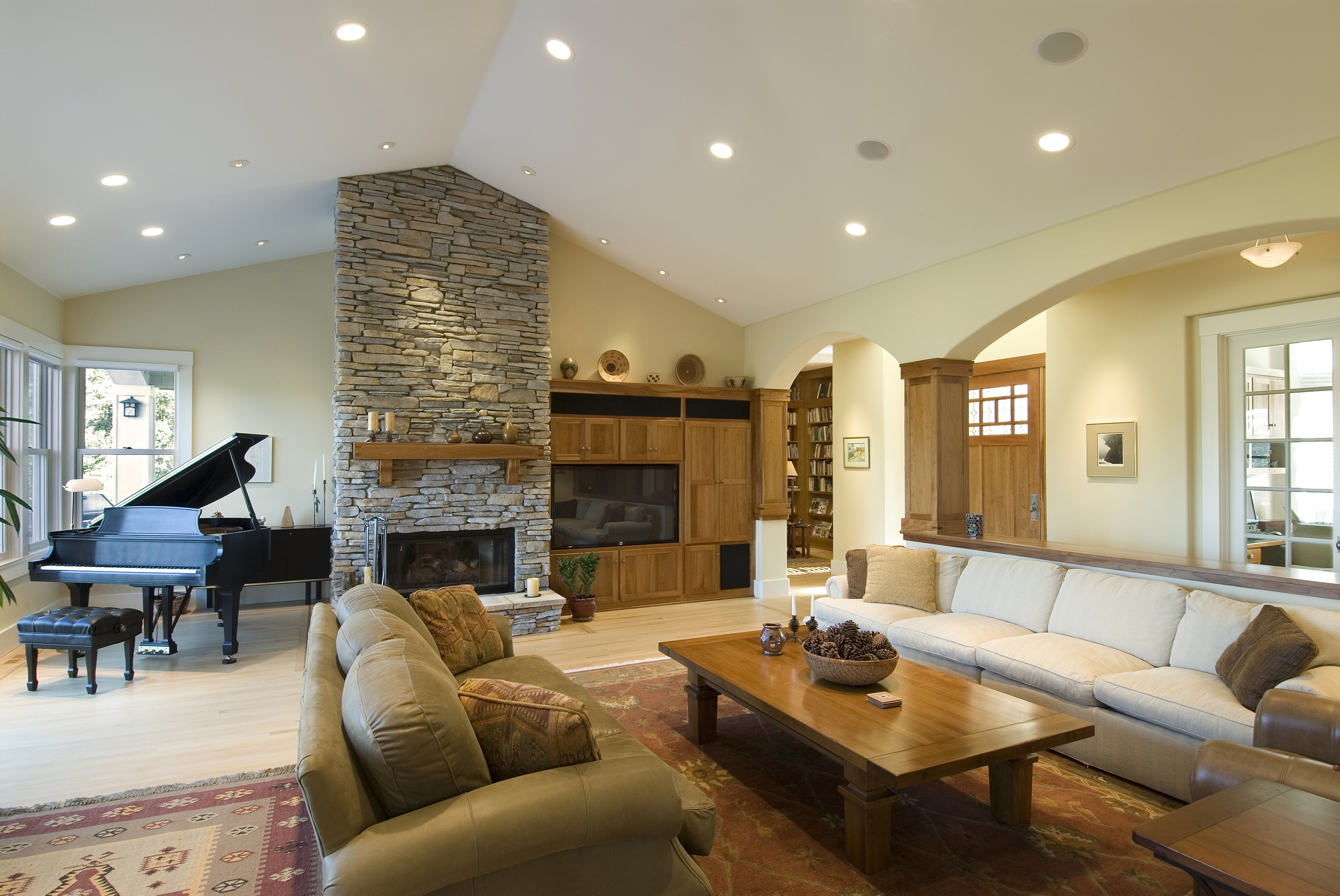 New living room with home renovation loan